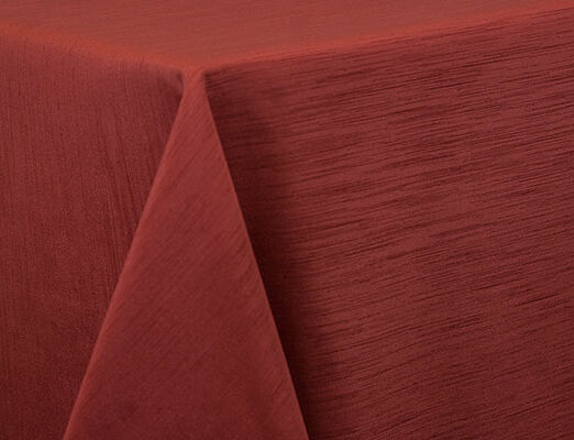Burnt Orange Dupioni Linen