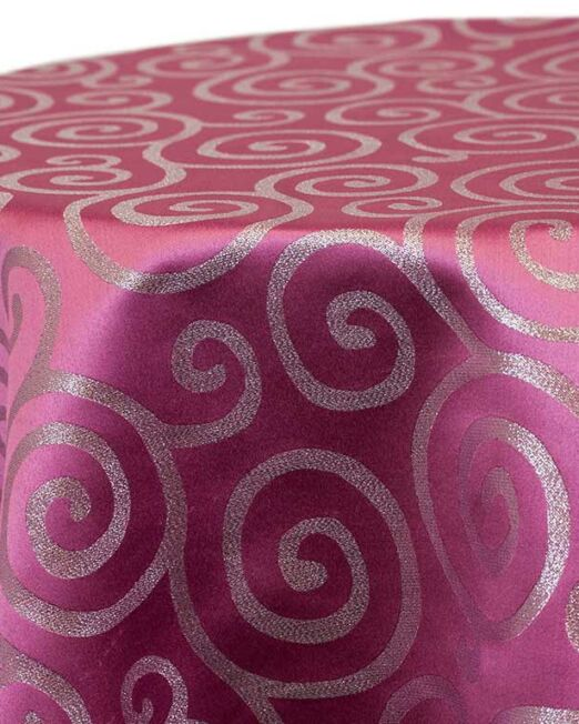 Pink Metallic Scroll Linen
